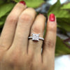 8 MM Classic Princess Solitaire Diamond Wedding Ring