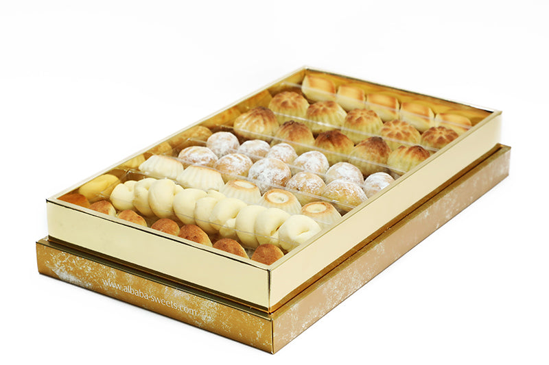 Assorted Mini Maamoul Gift Box with Maamoul Fruits, Ghraibeh and Sanyoura