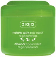 Natural olive regenerating hair mask