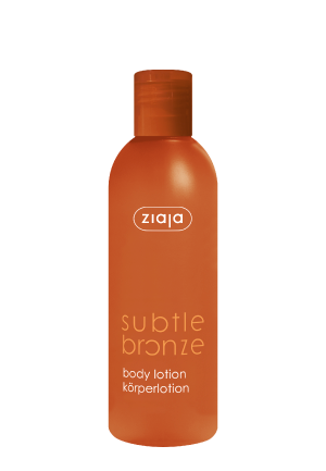 Subtle bronze body lotion