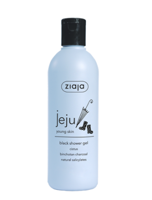 jeju black shower gel