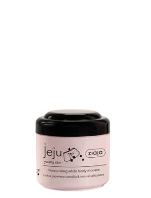 jeju moisturising white body mousse