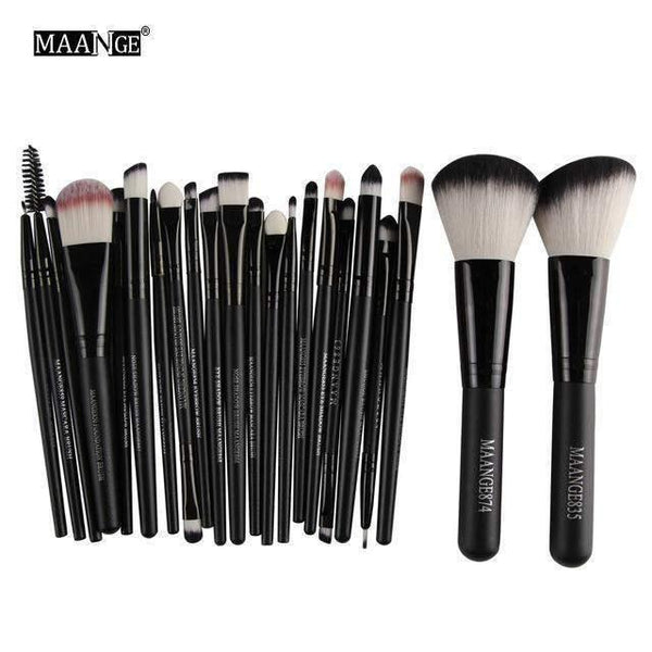 22-djelni Make Up Set-Makeup Brush-ZOEESTETICS-Black-ZOEESTETICS