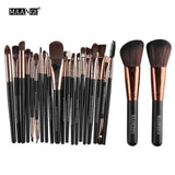 22-djelni Make Up Set-Makeup Brush-ZOEESTETICS-Black golden-ZOEESTETICS