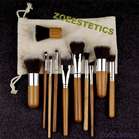 Bamboo Make Up Brushes-ZOEESTETICS-ZOEESTETICS