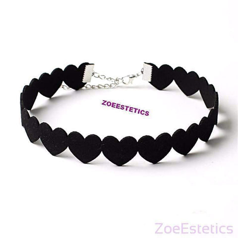 Chokers Srce Ogrlica-Necklaces-ZOEESTETICS-ZOEESTETICS