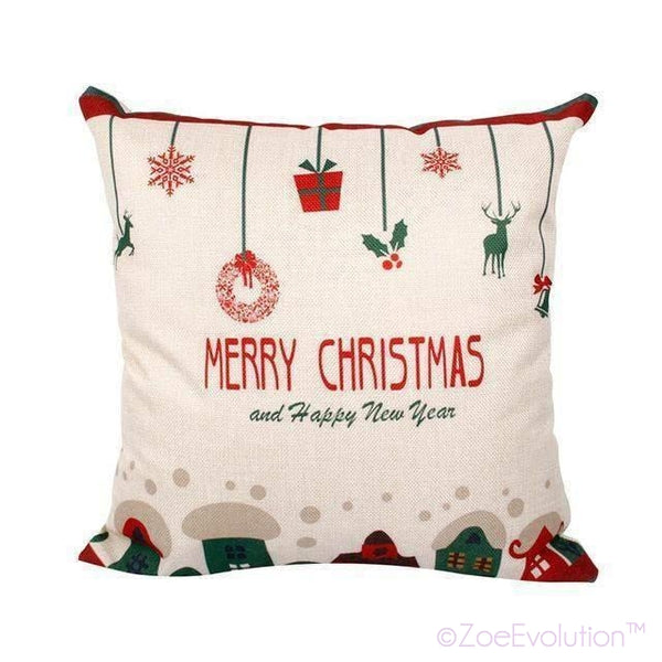 Dekorativne Božićne Jastučnice-Pillowcase-ZOEESTETICS-Christmas ornaments-ZOEESTETICS