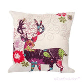 Dekorativne Božićne Jastučnice-Pillowcase-ZOEESTETICS-Purple deer-ZOEESTETICS