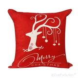 Dekorativne Božićne Jastučnice-Pillowcase-ZOEESTETICS-Red elk-ZOEESTETICS