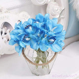 Dekorativne Orhideje-Decorative Flowers & Wreaths,Orchid-ZOEESTETICS-blue-ZOEESTETICS