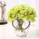 Dekorativne Orhideje-Decorative Flowers & Wreaths,Orchid-ZOEESTETICS-green-ZOEESTETICS