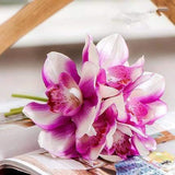 Dekorativne Orhideje-Decorative Flowers & Wreaths,Orchid-ZOEESTETICS-purple-ZOEESTETICS
