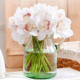 Dekorativne Orhideje-Decorative Flowers & Wreaths,Orchid-ZOEESTETICS-white-ZOEESTETICS
