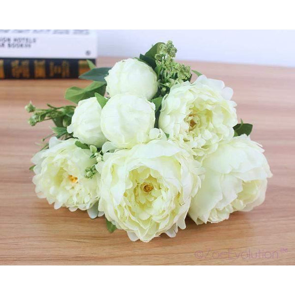 Dekorativni Buket Cvijeća-Decorative Flowers & Wreaths-ZOEESTETICS-B ivory-ZOEESTETICS