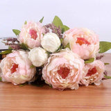 Dekorativni Buket Cvijeća-Decorative Flowers & Wreaths-ZOEESTETICS-light pink-ZOEESTETICS
