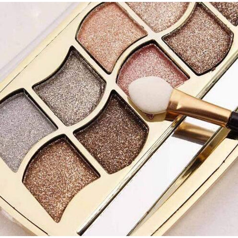 Eyeshadow Smoky Glod Palette-Eye Shadow-ZOEESTETICS-ZOEESTETICS