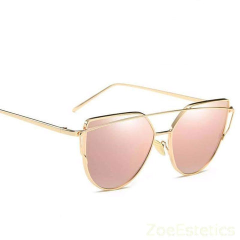 Rose Gold Mirror Sunčane Naočale-Sunglasses-ZOEESTETICS-ZOEESTETICS
