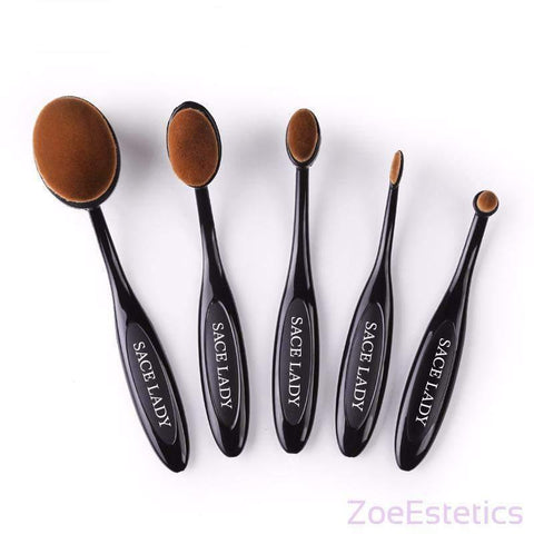 SACE LADY Set Ovalnih Četki-Makeup Brush-ZOEESTETICS-ZOEESTETICS