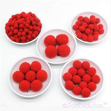 Šareni Pomponi-Decorative Flowers & Wreaths-ZOEESTETICS-color 01 red-10mm 400piece-ZOEESTETICS