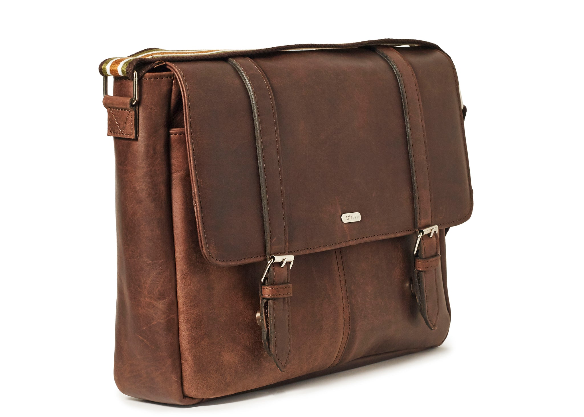 Antelo Peter Leather Laptop - Brown - Zufrique Boutique