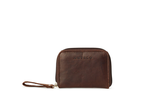 Antelo Sadie Leather Wallet - Brown - Zufrique Boutique