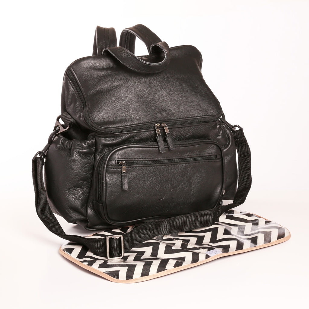 Thandana Nappy Backpack - Black - Zufrique Boutique