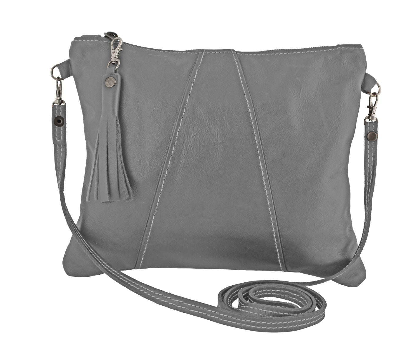 Thandana Cross Over Sling Bag - Grey - Zufrique Boutique
