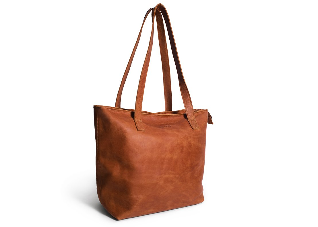 Antelo Emmy Leather Handbag -Toffee - Zufrique Boutique