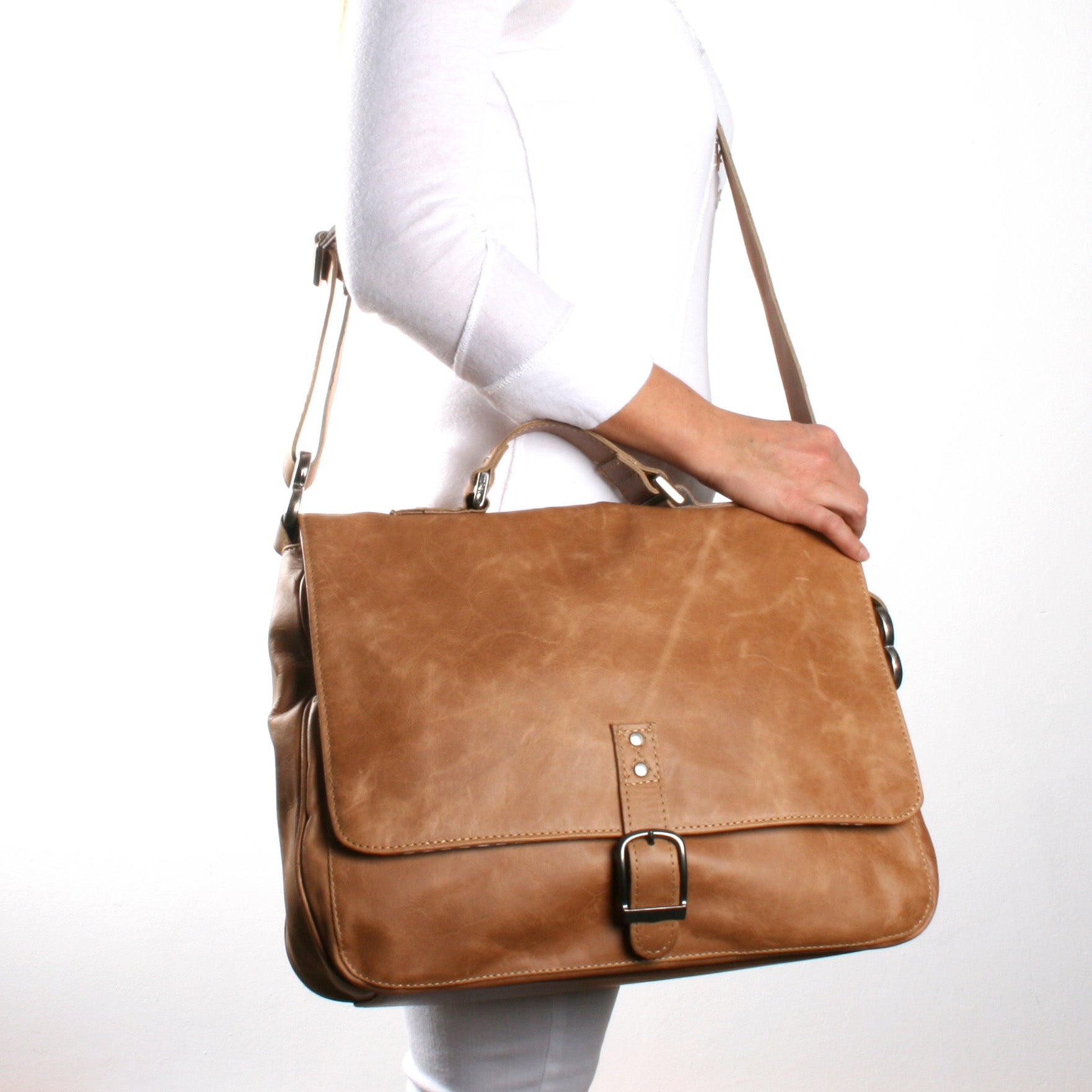 Thandana Work Satchel - Hazelnut - Zufrique Boutique