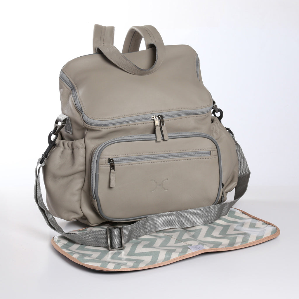 Thandana Nappy Backpack - Grey - Zufrique Boutique