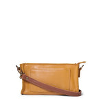 Antelo Gigi Nano Leather Wallet Sling - Mustard and Tan - Zufrique Boutique