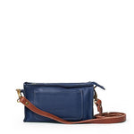 Antelo Gigi Nano Leather Wallet Sling - Navy and Tan - Zufrique Boutique