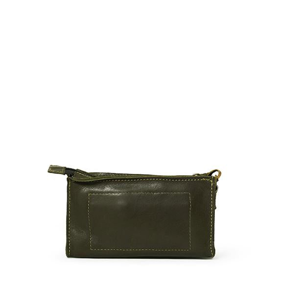 Antelo Gigi Nano Leather Wallet Sling - Olive and Black - Zufrique Boutique