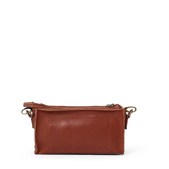 Antelo Gigi Nano Leather Wallet Sling - Tan - Zufrique Boutique