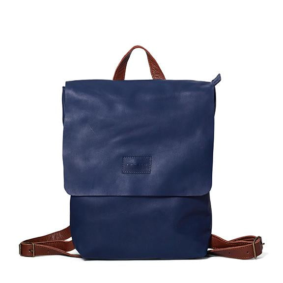 Antelo Henry Backpack - Navy and Tan - Zufrique Boutique