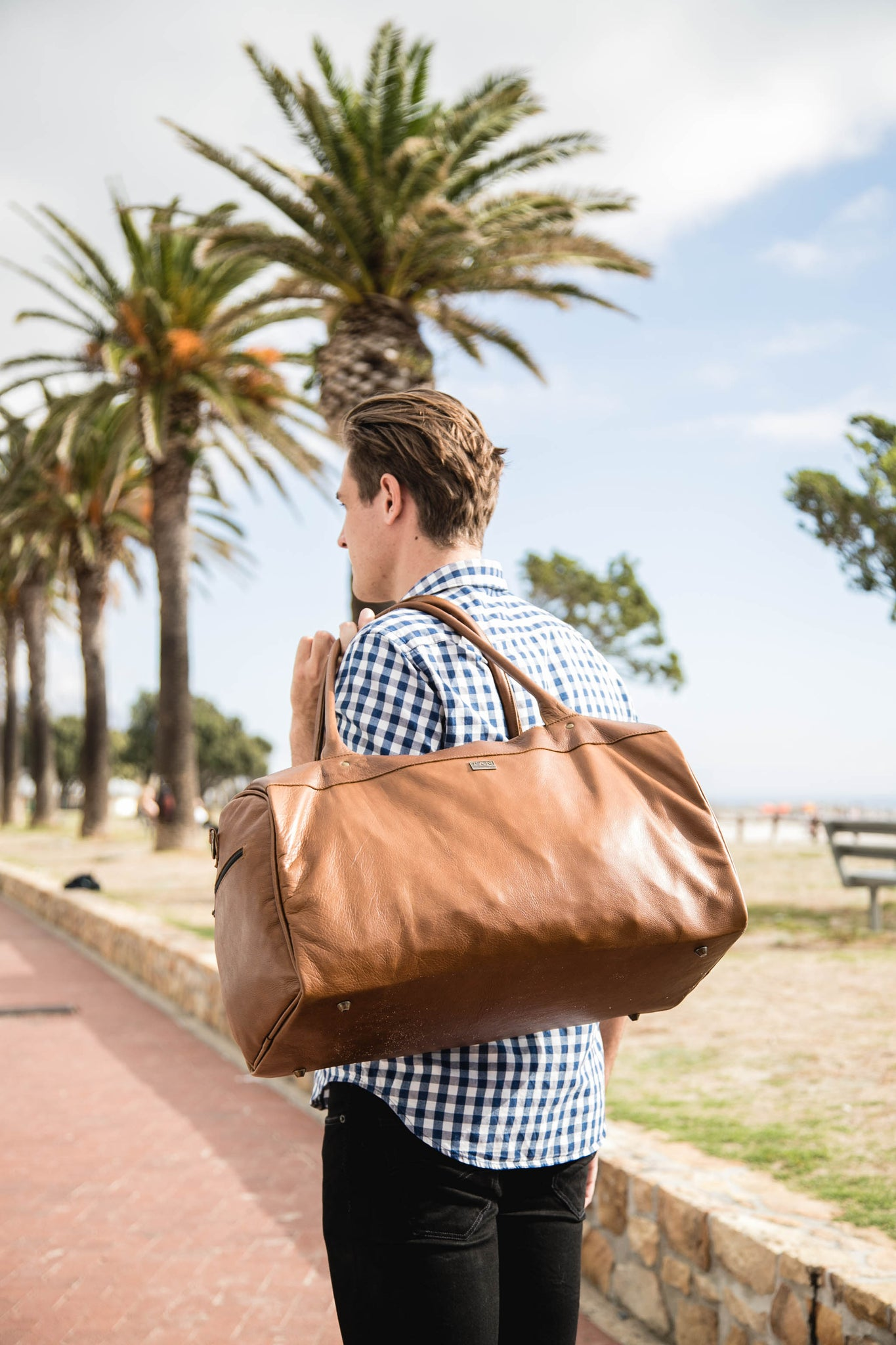 TAN Jackson Duffel Bag