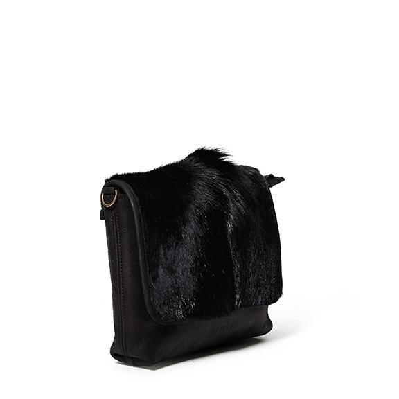 Antelo Jeanie XL Leather Handbag - Black Springbok - Zufrique Boutique
