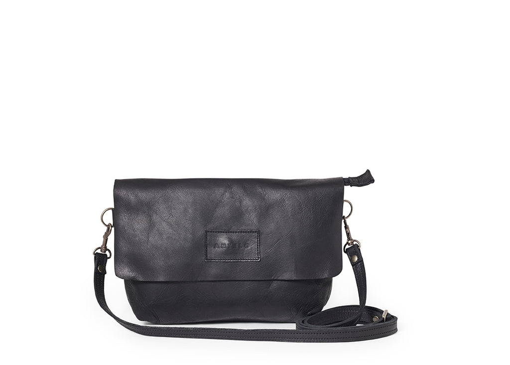 Antelo Jeanie Leather Handbag - Black - Zufrique Boutique