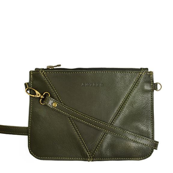 Antelo Kristi Leather Messenger - Olive - Zufrique Boutique