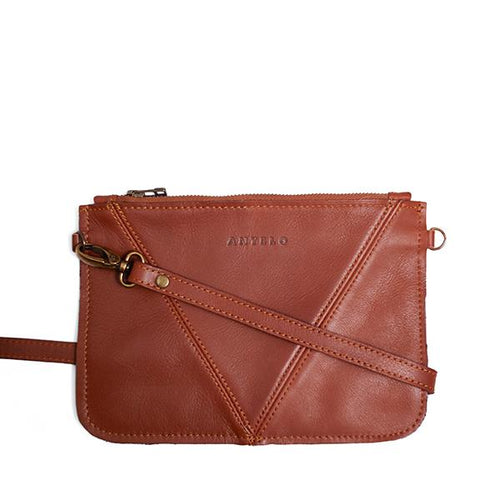Antelo Kristi Leather Messenger - Tan - Zufrique Boutique