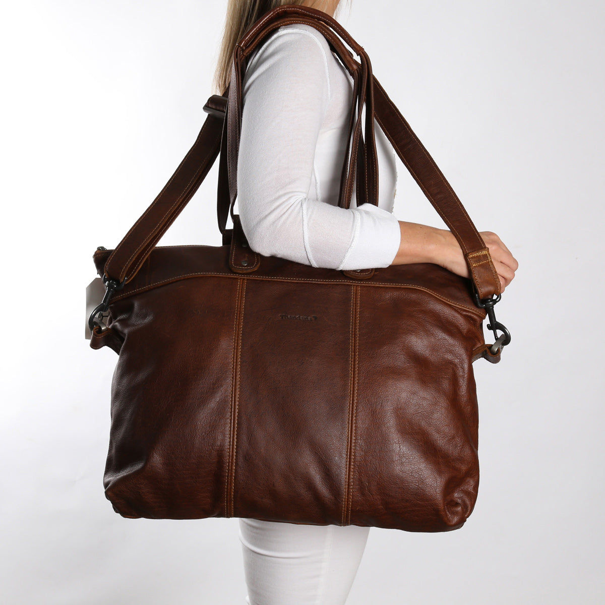 Thandana Ladies Cabin Bag - Brown - Zufrique Boutique