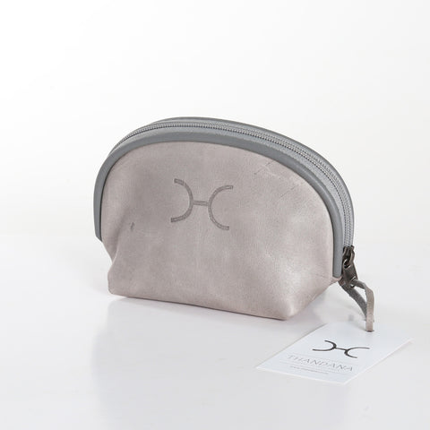 Thandana Cosmetic Bag - Grey - Zufrique Boutique