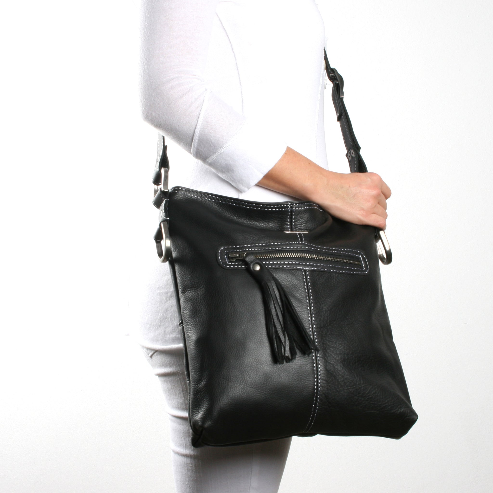 Thandana Messenger Sling Bag - Black - Zufrique Boutique