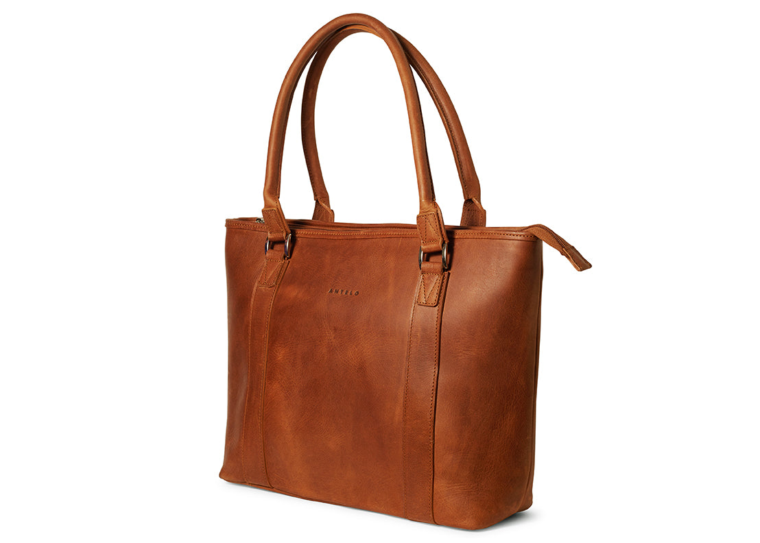 Antelo Mila Leather Handbag - Toffee - Zufrique Boutique