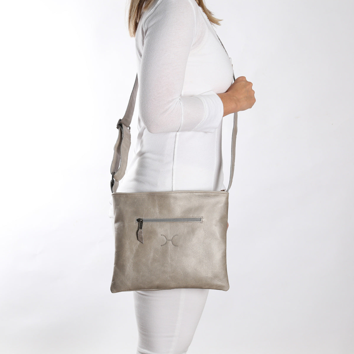 Thandana Mini Messenger Sling Bag - Grey - Zufrique Boutique