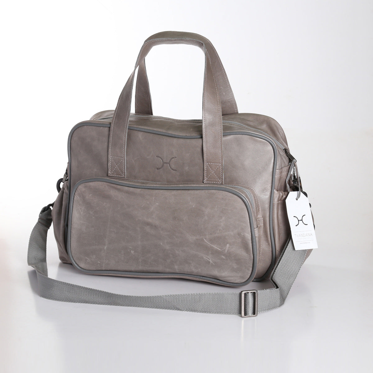 Thandana Nappy Bag - Grey - Zufrique Boutique
