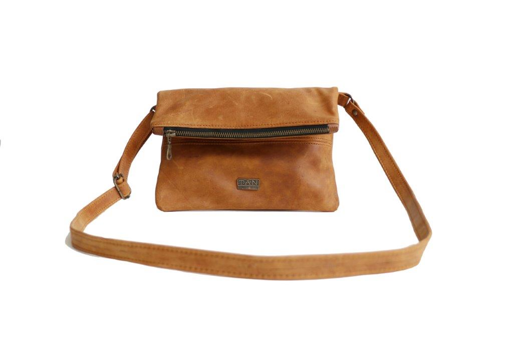TAN Nina Leather Slingbag