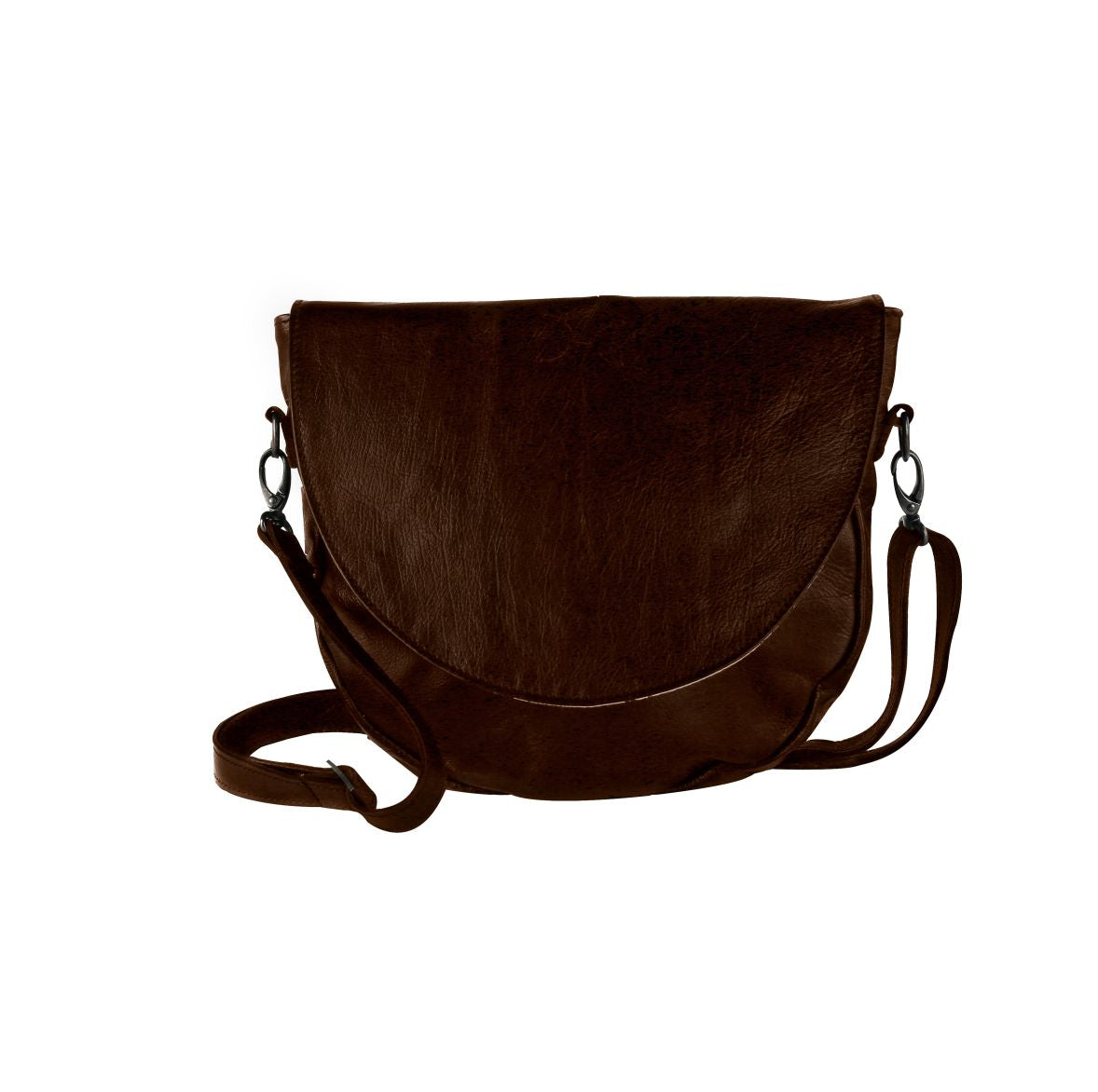 Thandana Messenger Saddle Sling Bag - Brown - Zufrique Boutique