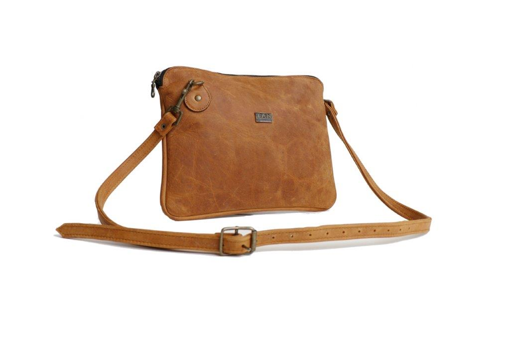 TAN Taylor Leather Slingbag/Clutch