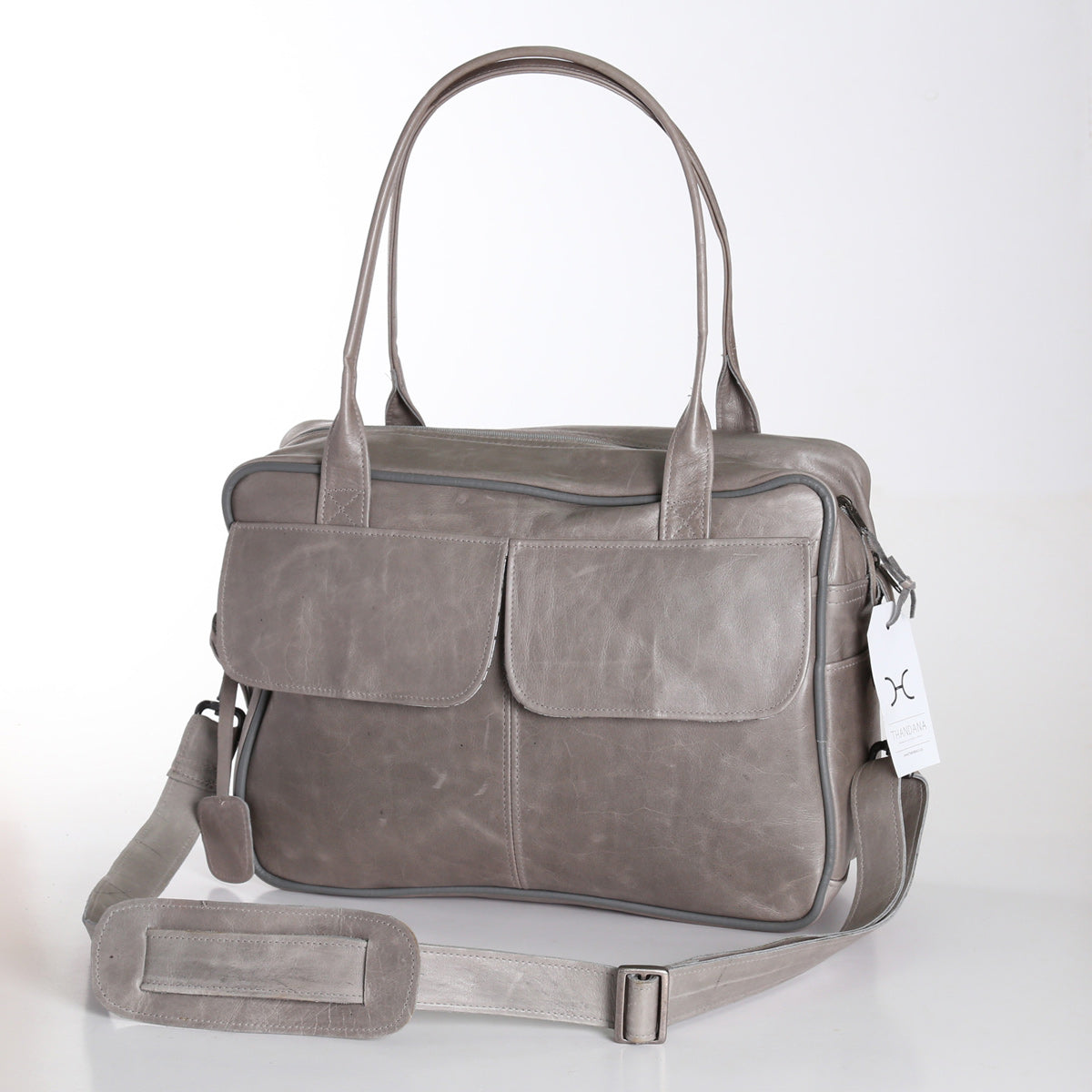 Thandana Briefcase - Grey - Zufrique Boutique